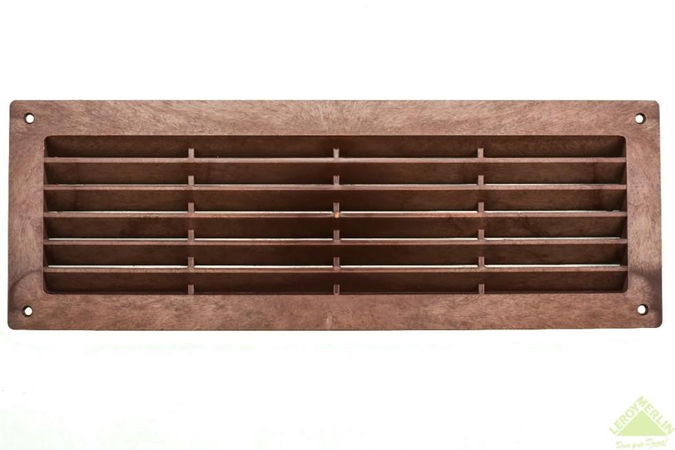 Решетка дверная вентиляционная Вентс МВ 350, 368x130 мм, цвет красное дерево
