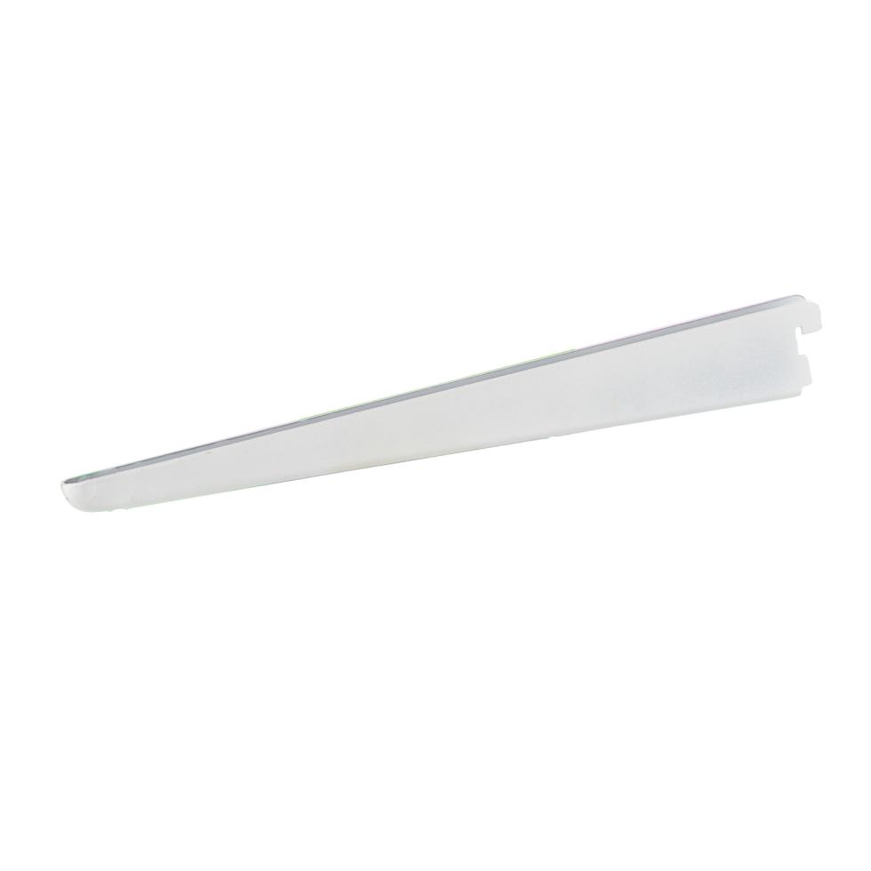 Кронштейн прямой двухрядный 37 см нагрузка до 45 кг цвет белый
