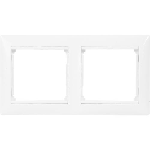 Рамка для розеток и выключателей Legrand Valena 2 поста, цвет белый
