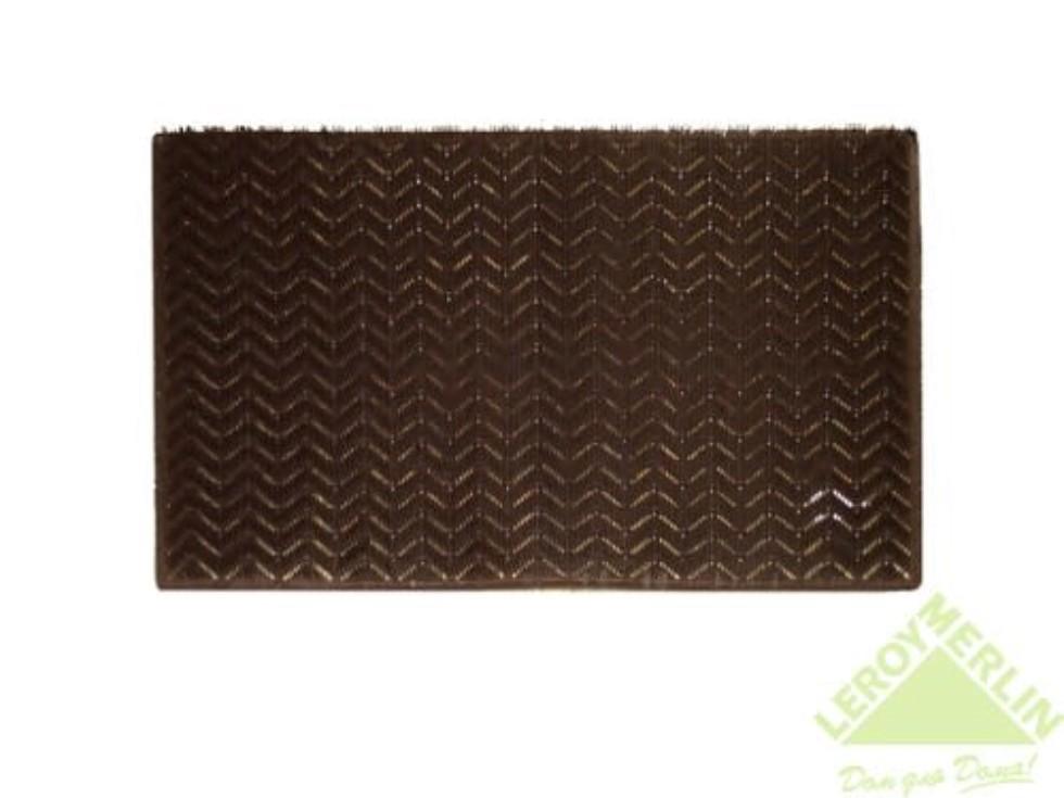 Коврик придверный «Травка Zebramat» полиэтилен 40х60 см цвет коричневый