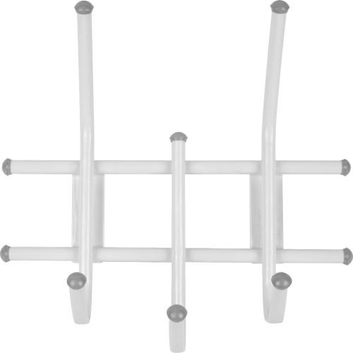 Вешалка настенная Стандарт 3 крючка 11х28х32 см цвет белый