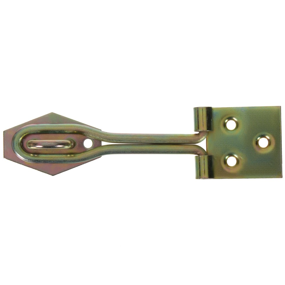 Навеска Gah Alberts с проушиной для навесного замка с проволочной петлей, 34x120 мм