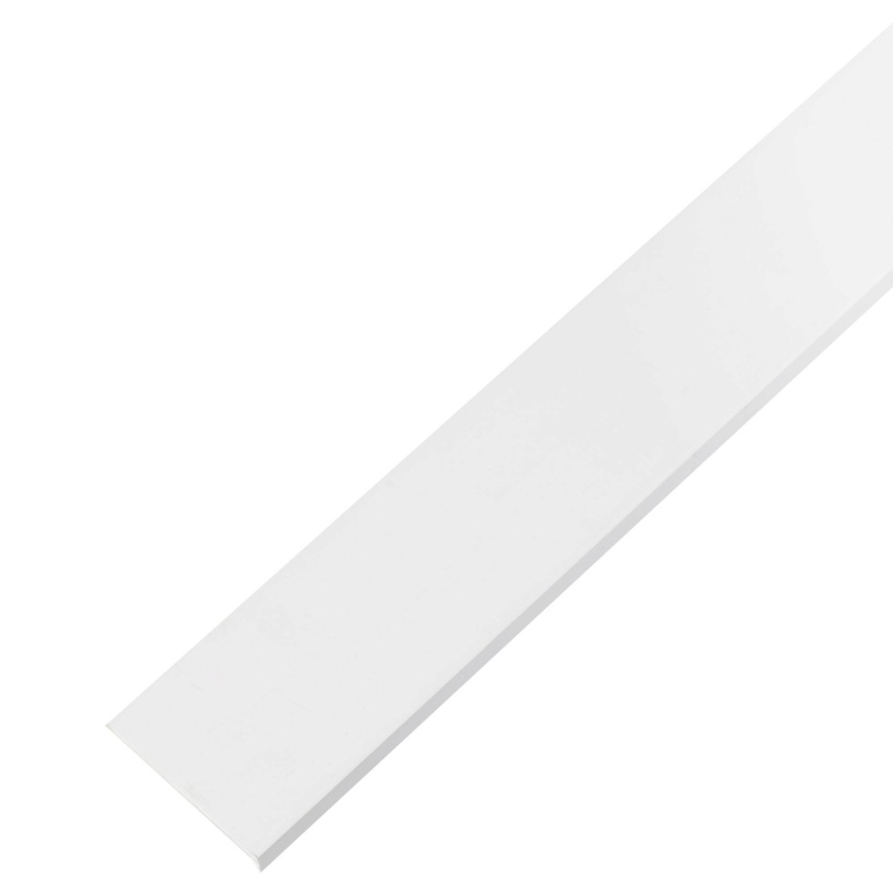 Уголок ПВХ 40x10x2x1000 мм, цвет белый