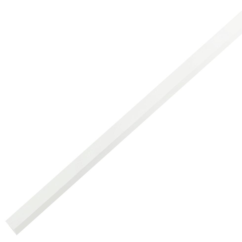 Уголок ПВХ 10x10x1x2000 мм, цвет белый