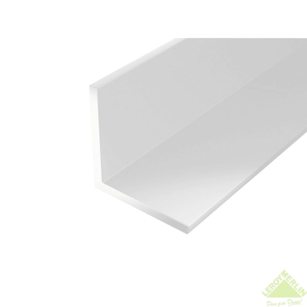 Уголок ПВХ 20x20x1.5x2000 мм, цвет белый