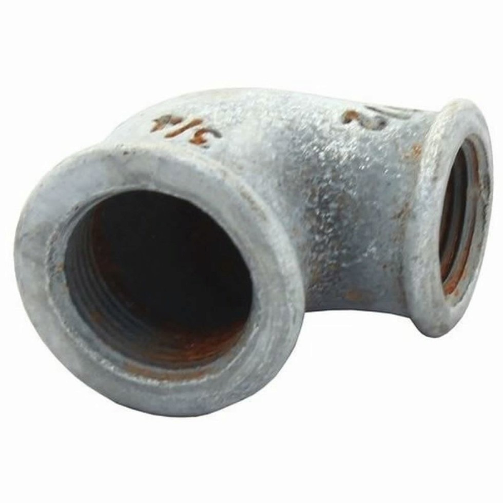 Угол оцинкованный, внутренняя резьба, 1 мм, чугун