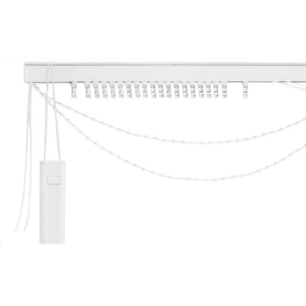 Карниз для вертикальных жалюзи от центра 240х180 см металл цвет чёрно-белый