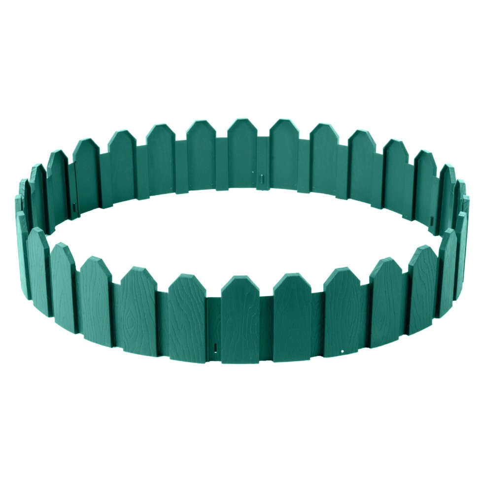 Ограждение садовое декоративное «Дачник» 3 м цвет зелёный