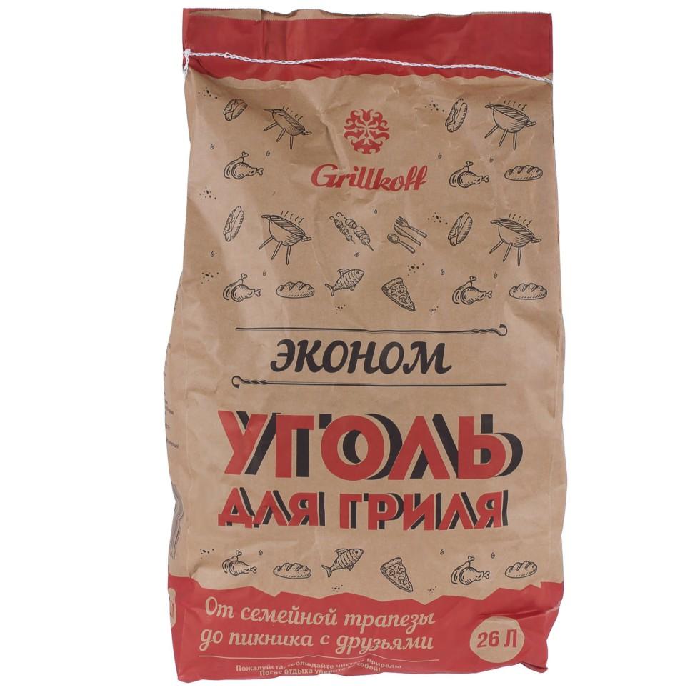 Уголь древесный «Эконом» 26 л (5 кг), для гриля