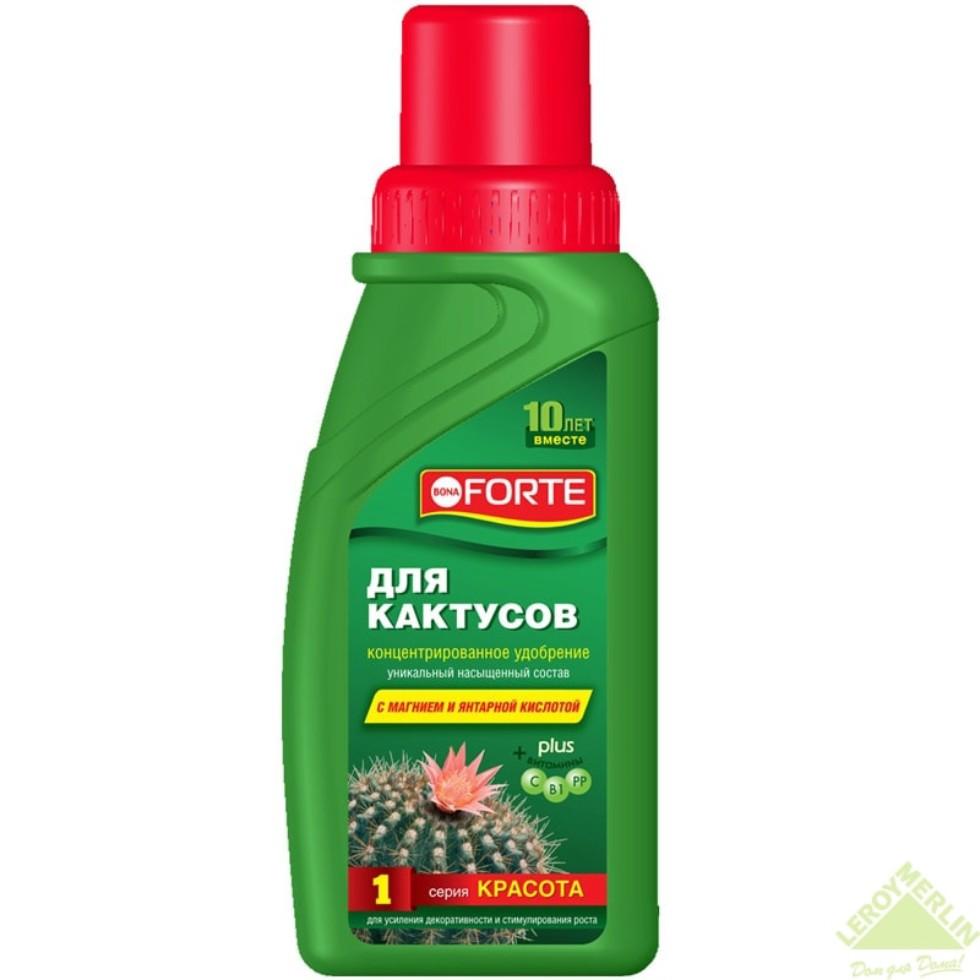 Удобрение «Bona Forte» для кактусов/суккулентов и алоэ 0.285 л