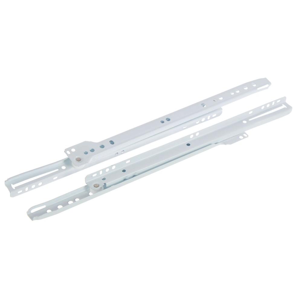 Направляющие роликовые Boyard DS01W.1/350, металл, цвет белый