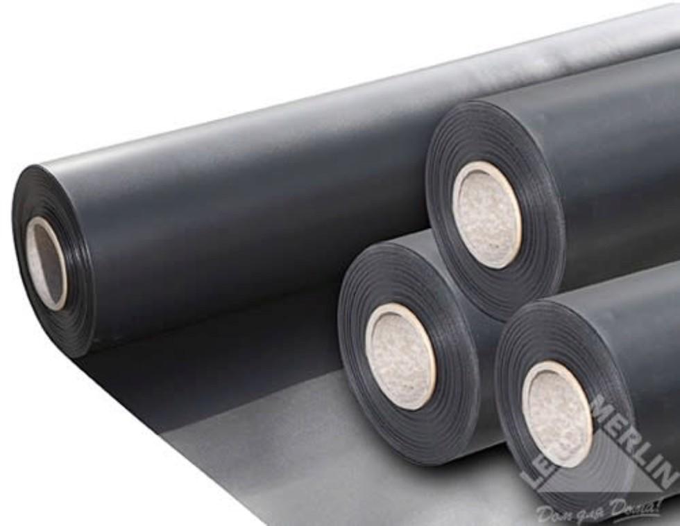 Плёнка ПВХ 0.5 мм 8 м, цвет чёрный