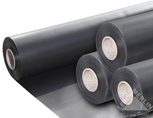 Плёнка из ПВХ 1 мм 6 м, цвет чёрный
