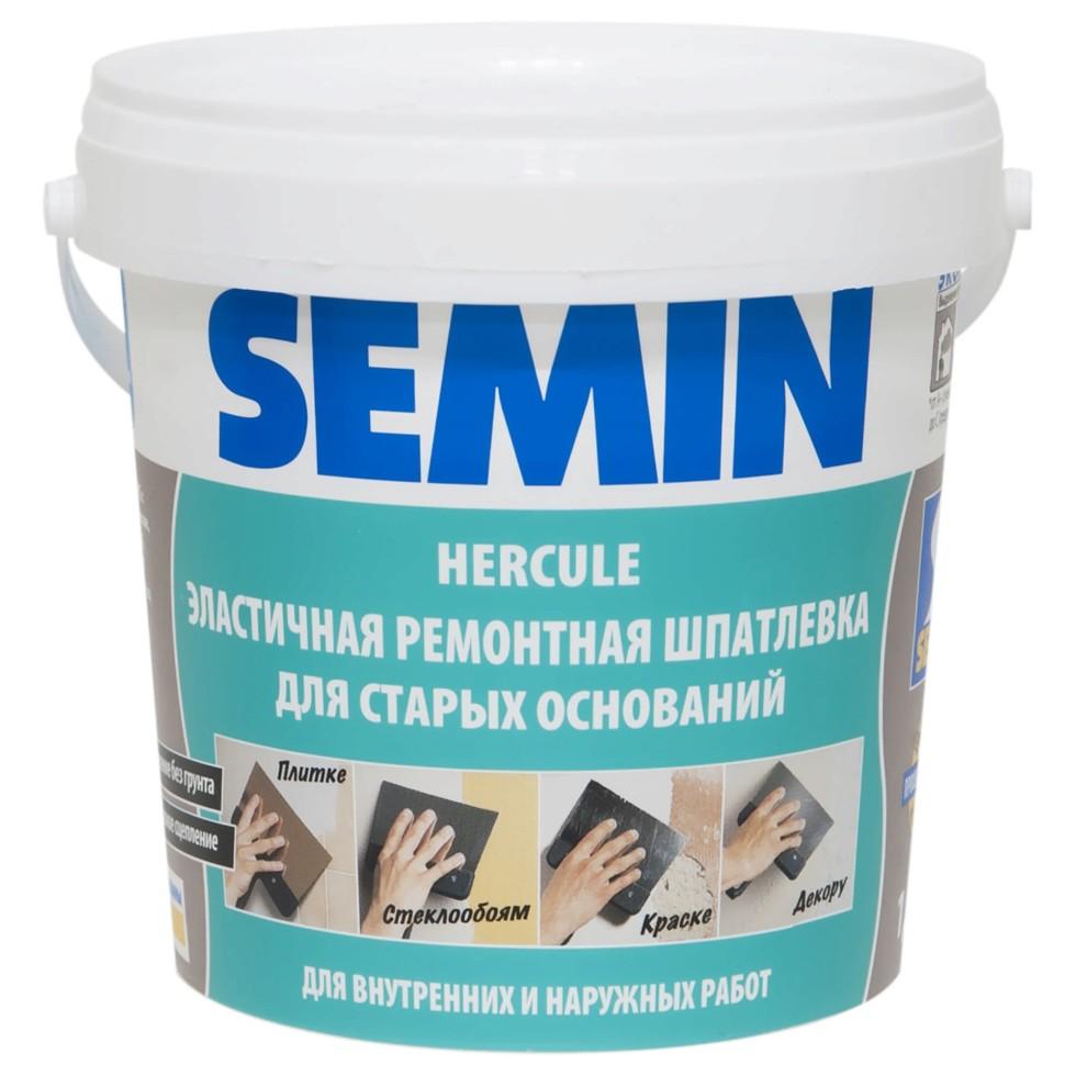 Шпаклёвка полимерная влагостойкая Semin Hercule, 1,5 кг