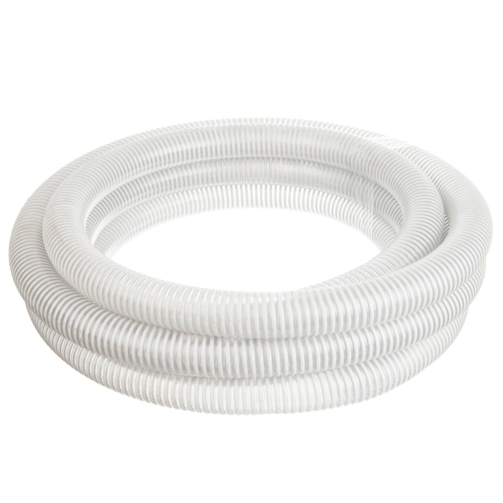 Шланг садовый напорно-вакуумный армированный спиралью, 40 мм, 7 м, ПВХ