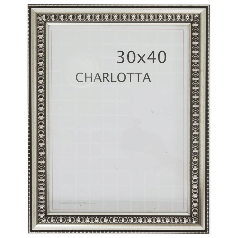 Рамка Charlotta 30х40 см пластик цвет серебро