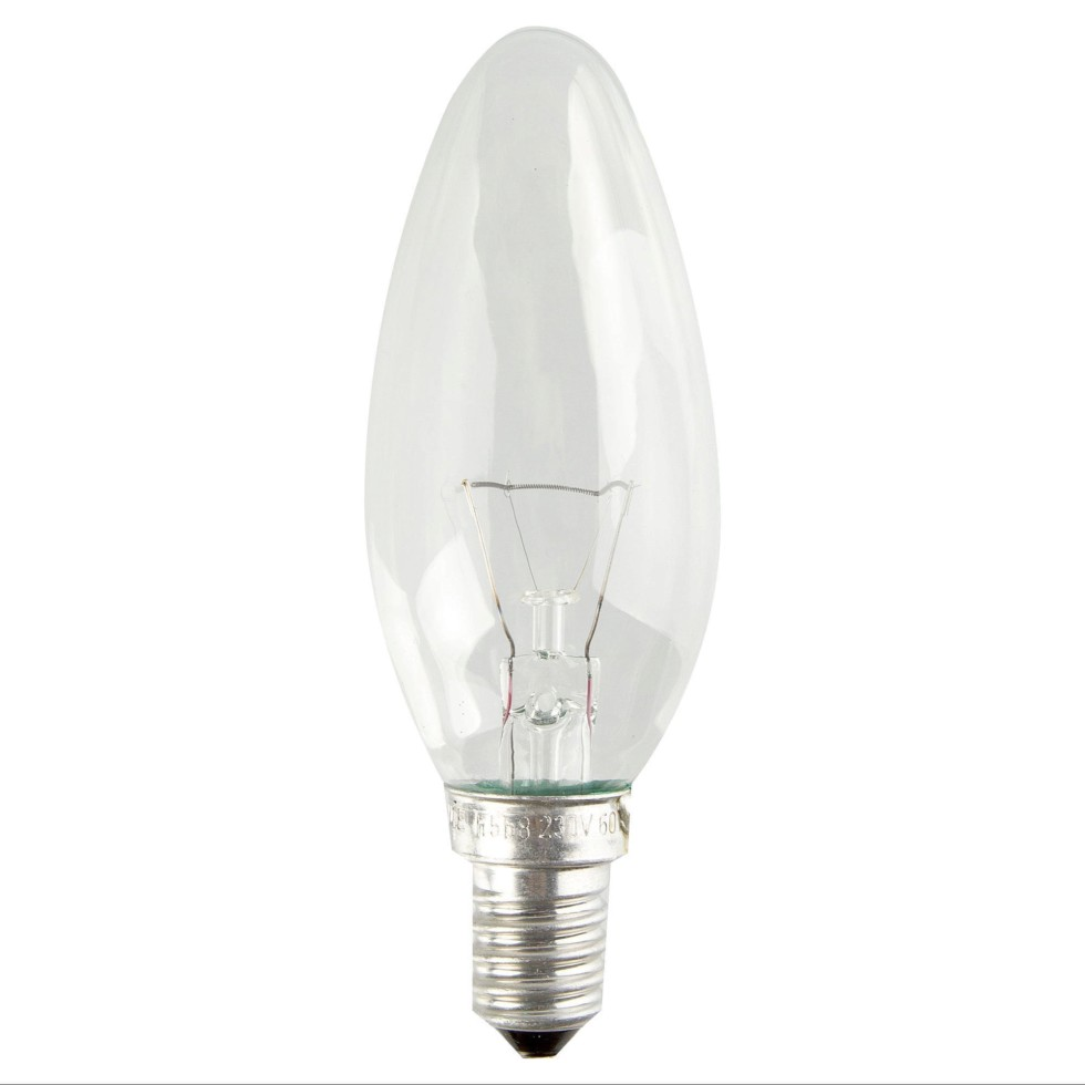 Лампа накаливания Osram свеча E14 40 Вт свет тёплый белый
