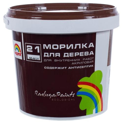 Морилка для дерева акриловая цвета орех Радуга-21 ВДАК 1 кг
