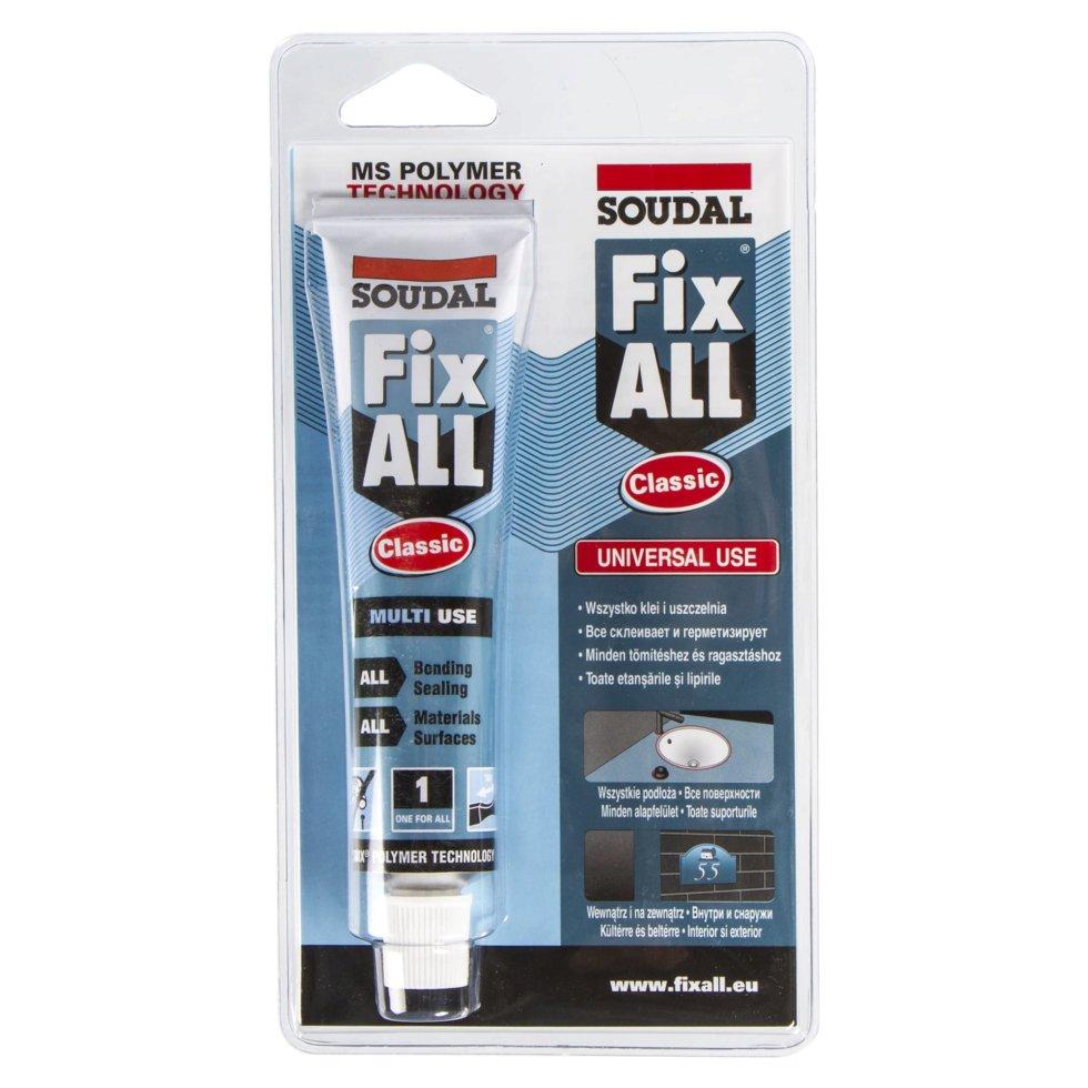 Клей-герметик специальный Soudal Fix All, в блистере, 80 мл