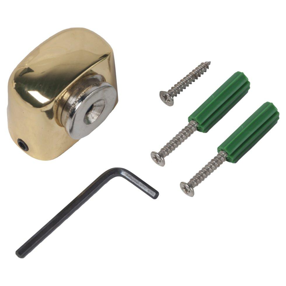 Стопор дверной Apecs DS-2751, ЦАМ, цвет золото