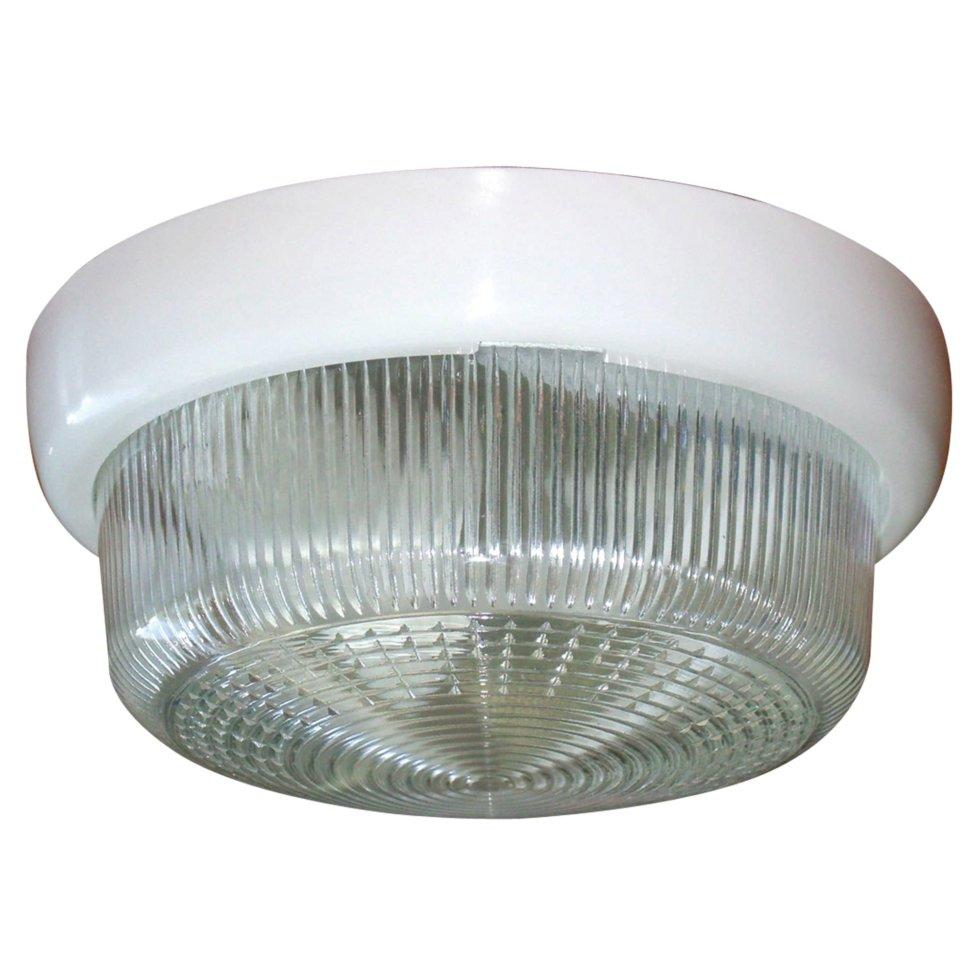 Светильник потолочный «Раунд» 1xE27x60 Вт, цвет прозрачный, IP44