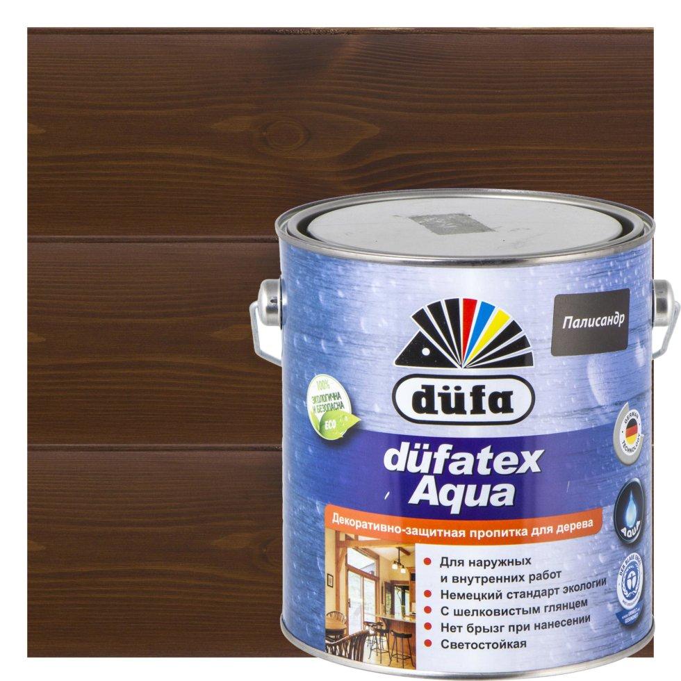 Пропитка для дерева водная цвета палисандр Dufatex aqua 2.5 л