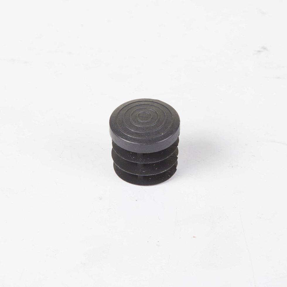 Ножка-заглушка d 25 мм, пластик, цвет черный