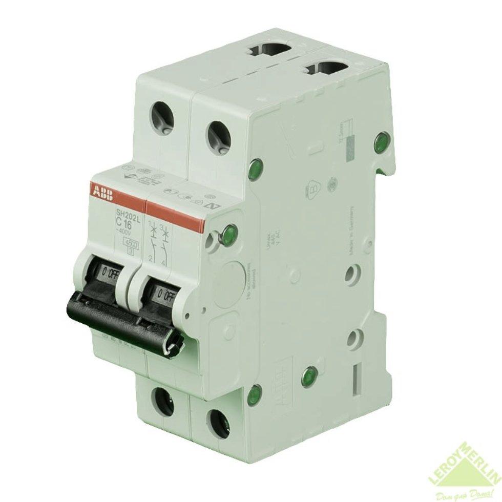 Выключатель автоматический ABB 2 полюса 16 A