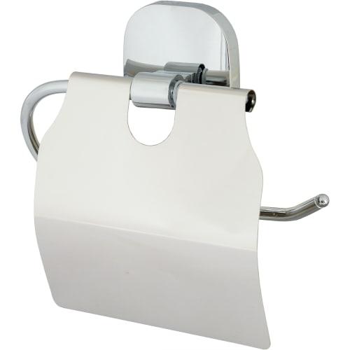Держатель для туалетной бумаги «Квадрат» с крышкой цвет хром