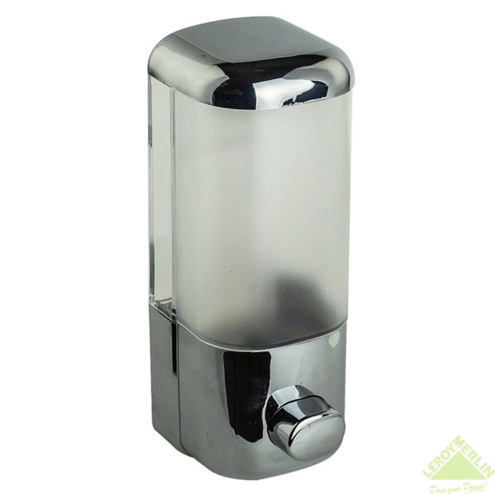 Диспенсер подвесной для жидкого мыла Mr Penguin, 400 мл, пластик, цвет хром