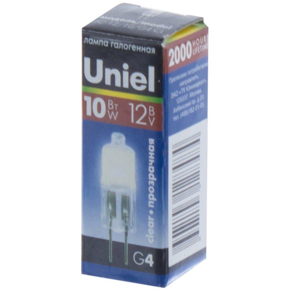 Лампа галогенная Uniel G9 40 Вт свет тёплый белый