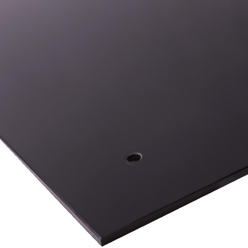 Стеновая панель 90x0.6x60 см, стекло, цвет чёрный