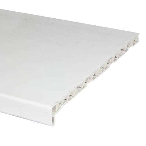 Подоконник ПВХ 400х1500 мм, цвет белый