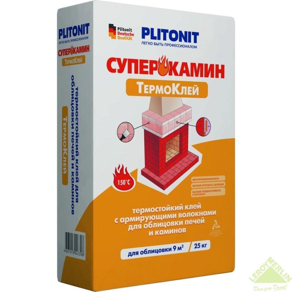 Клей термостойкий Плитонит Супер Камин ТермоКлей, 25 кг