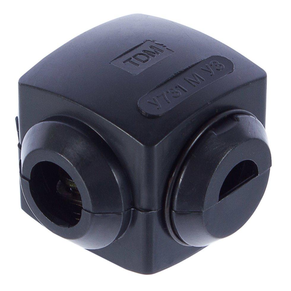 Сжим ответвительный У-731, 10/10 кв.мм, поликарбонат, цвет чёрный, IP20
