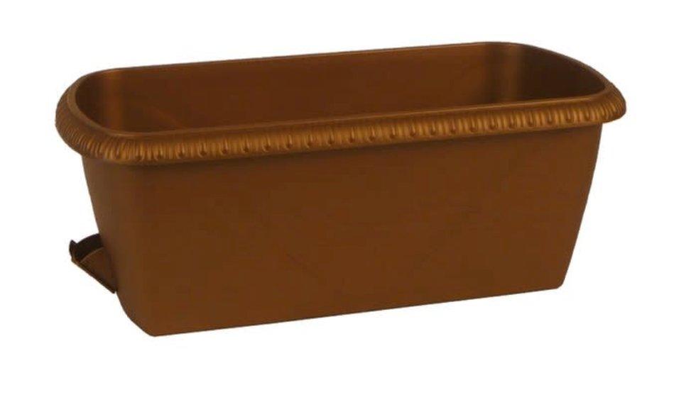 Ящик балконный «Жардин» коричневый 60 см, пластик
