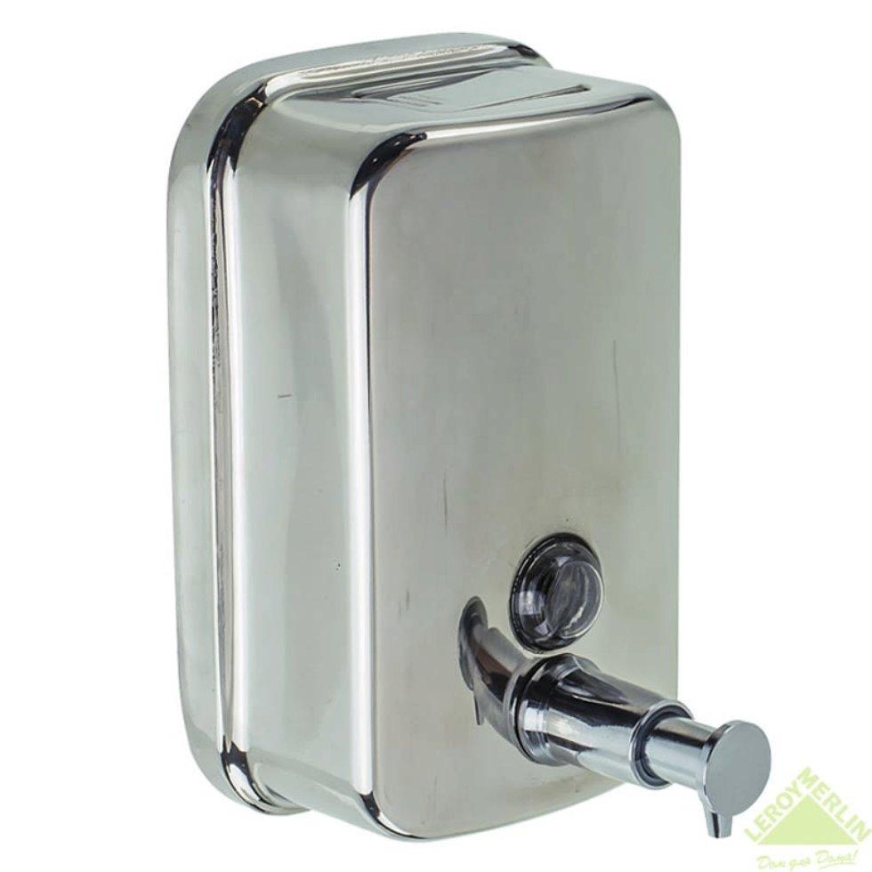 Диспенсер подвесной для жидкого мыла Bath Plus металлический, 500 мл, цвет хром