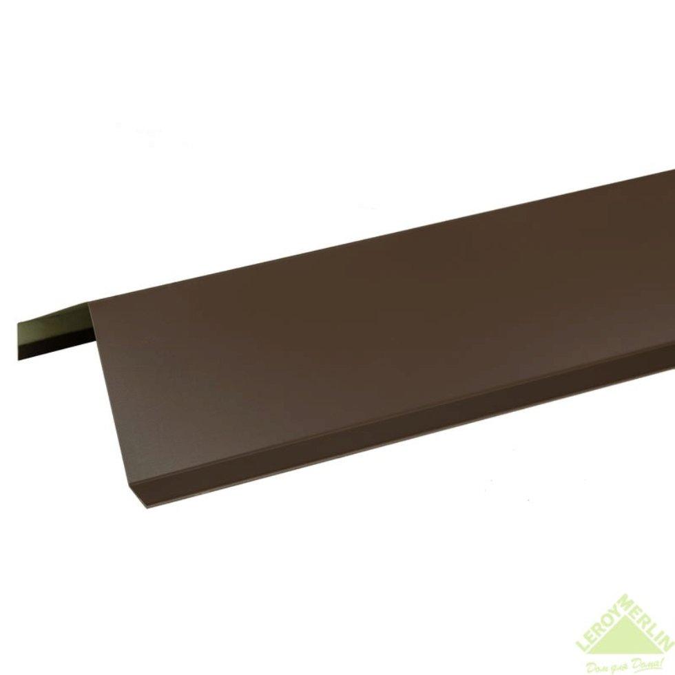 Лист ветровой с полиэстеровым покрытием 2 м цвет коричневый