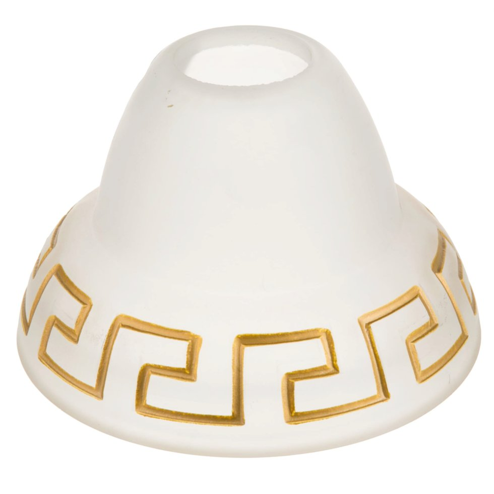 Плафон Этруска E27, цвет прозрачный матовый/бронза