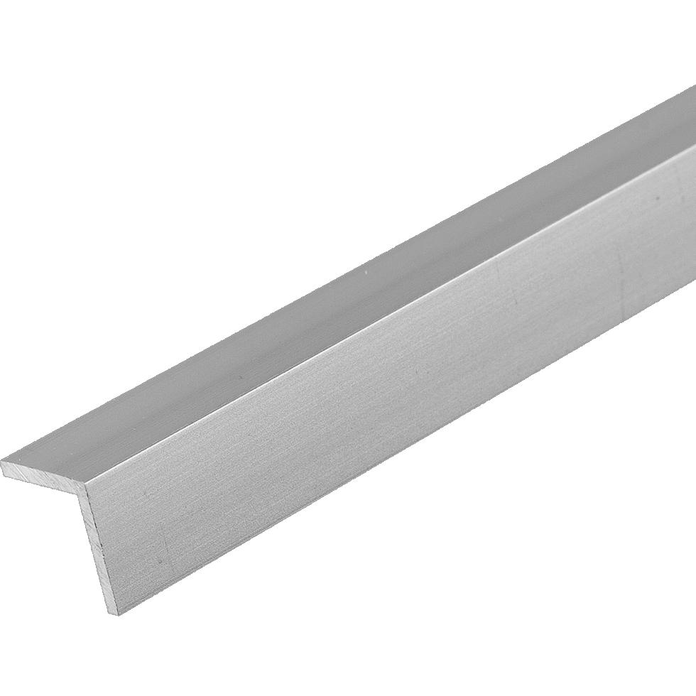 Уголок алюминиевый 10х10х1,2 мм, 1 м, цвет серебро