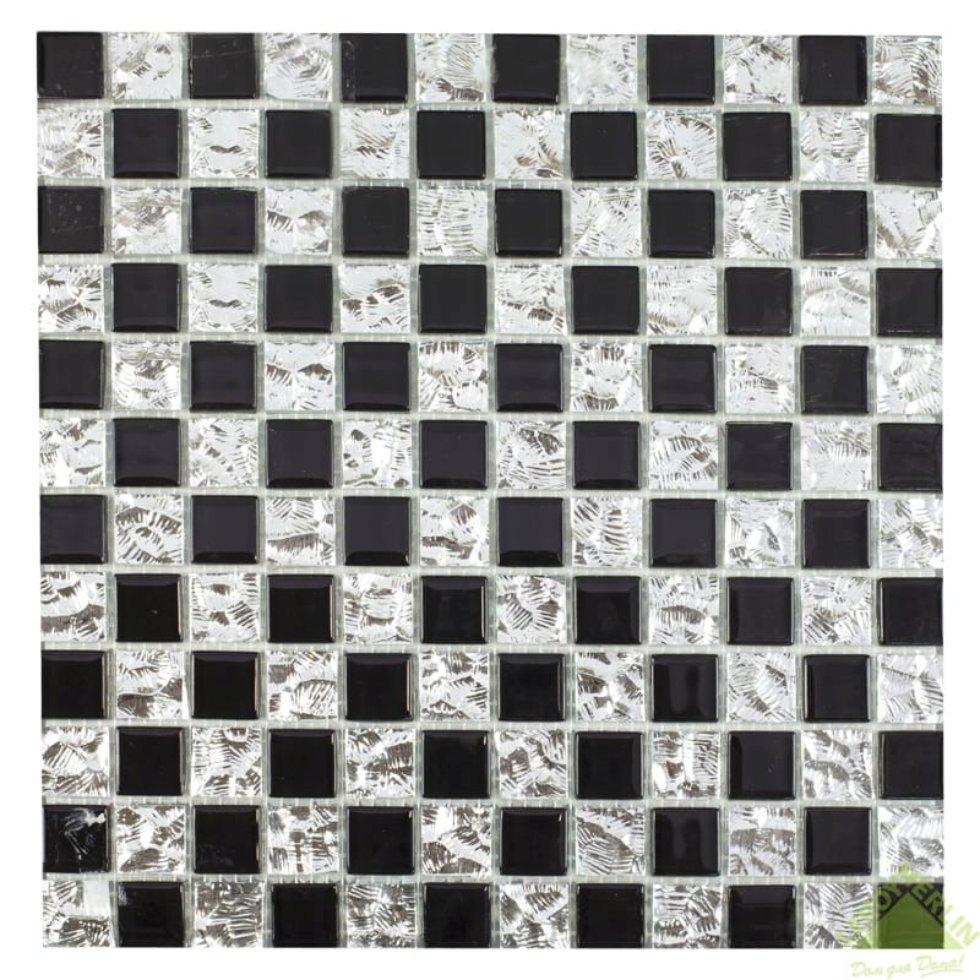 Мозаика, 30х30 см, стекло, цвет серебристый