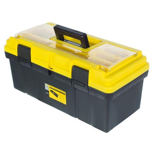 Ящик для инструмента Systec 240х230х500 мм, пластик, цвет чёрно-жёлтый