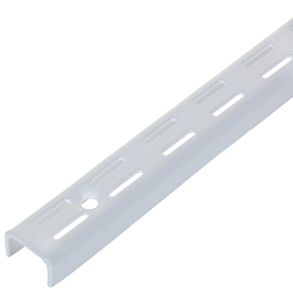 Комплект направляющих двухрядных 100 см нагрузка до 55 кг цвет белый, 4 шт.