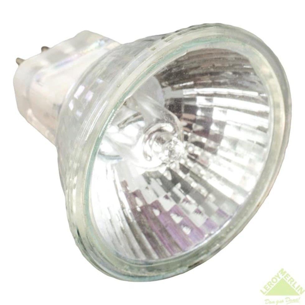 Лампа галогенная Uniel GU4 35 Вт 12 В свет тёплый белый