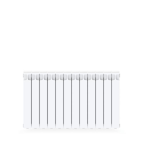 Радиатор Rifar Monolit 500, 12 cекций, боковое подключение, биметалл