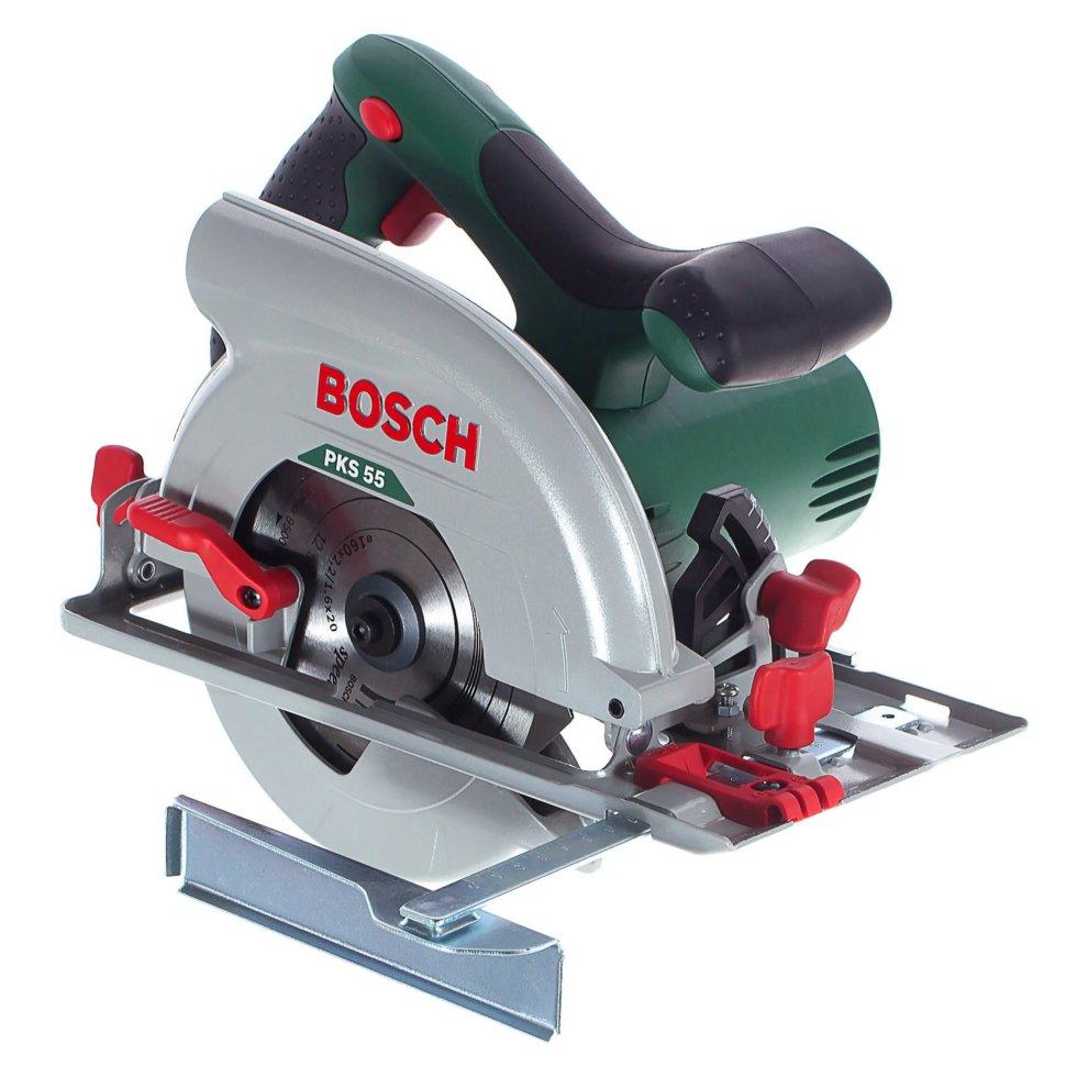 Пила циркулярная Bosch PKS 55, 1200 Вт, 160 мм