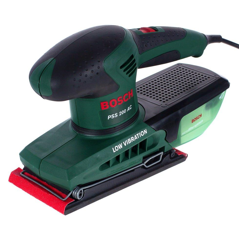 Вибрационная шлифовальная машина Bosch PSS 200 AC, 200 Вт, 92х182 мм