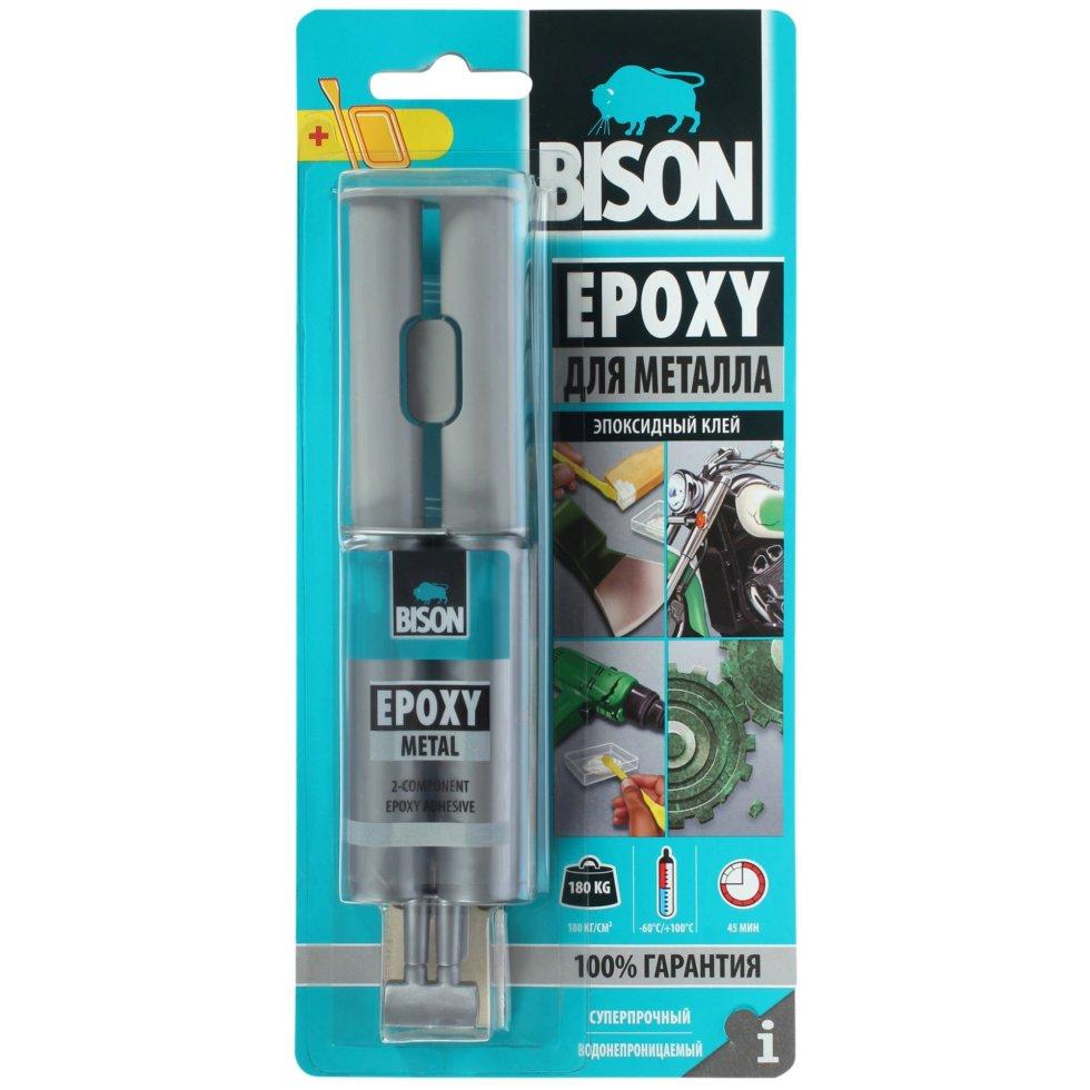 Клей эпоксидный Bison Epoxy Metal, 24 мл
