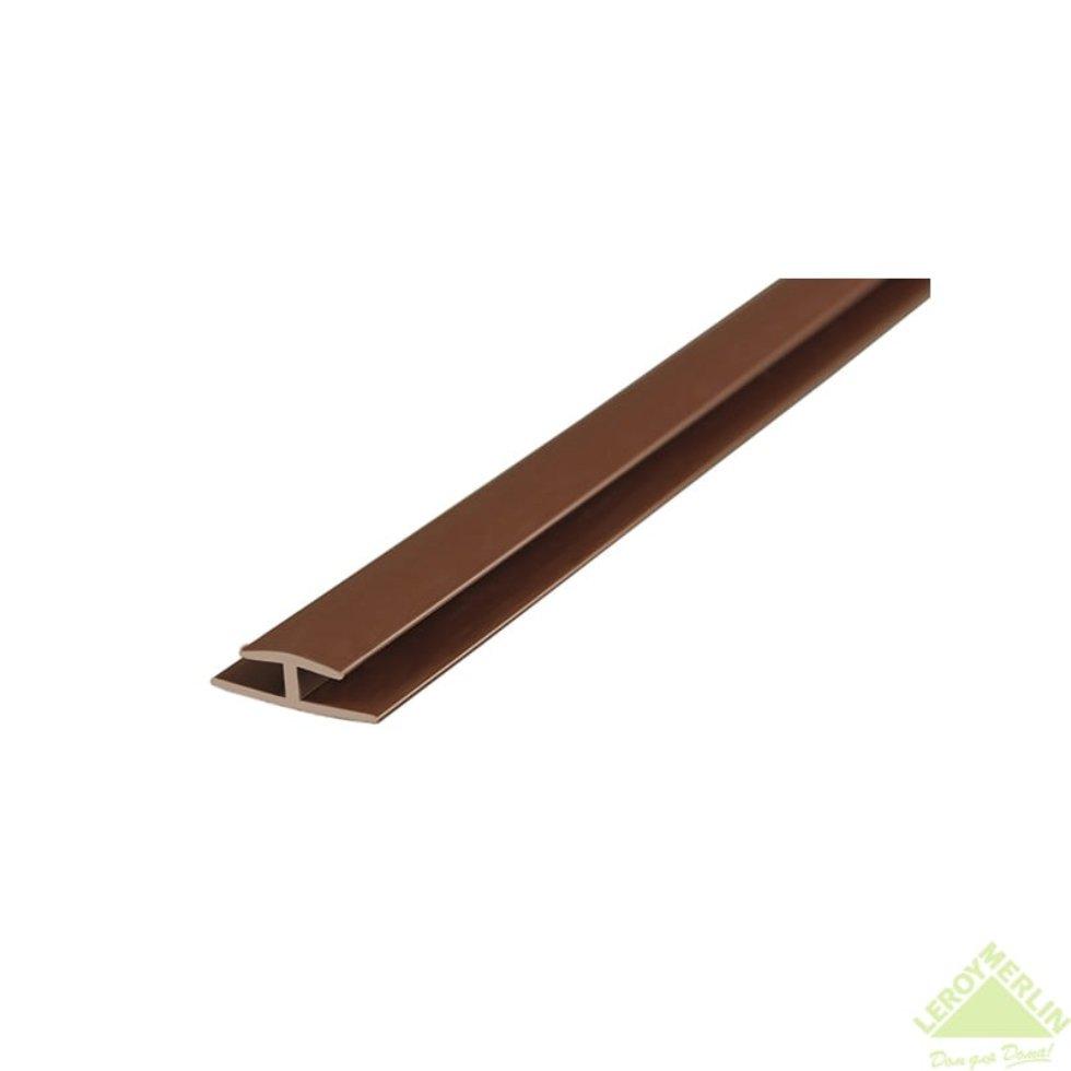 Профиль стыковочный 2000 мм 99ШК цвет коричневый