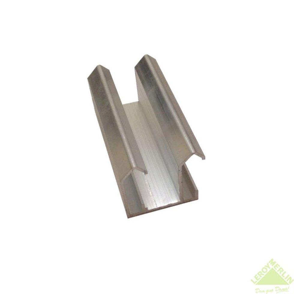 Направляющая для шкафа купе верхняя MC-L90-B 1800 мм нагрузка до 45 кг алюминий